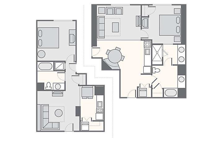 Bluegreen Club 36 on Grandview Las Vegas 2 Bedroom Floor Plans