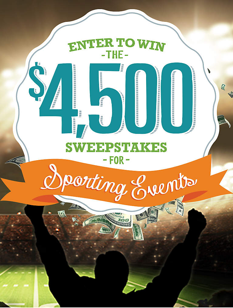 Enter to Win $4,500 Sweepstakes