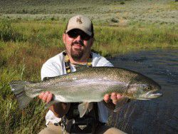 Man with large trout