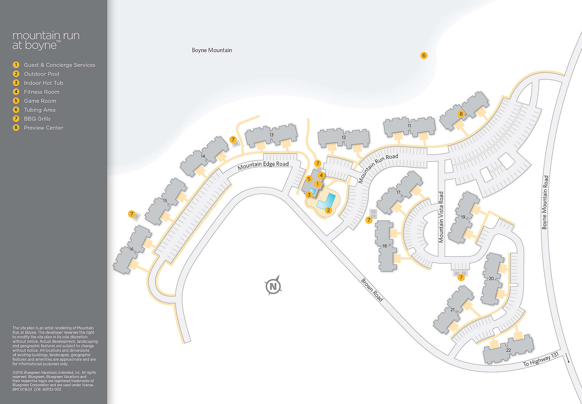 Mountain run at boyne bluegreen vacations for Apartment design map