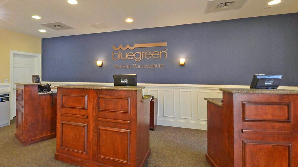 Bluegreen Parkside Williamsburg Resort lobby