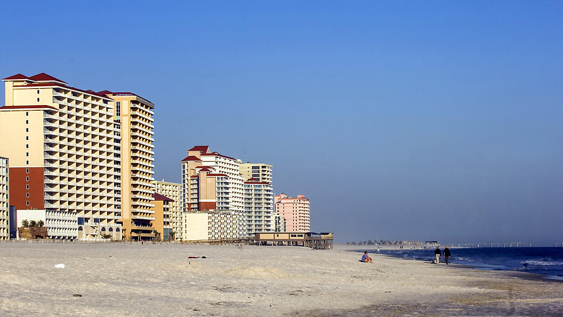 The highrises along the Gulf Shores.