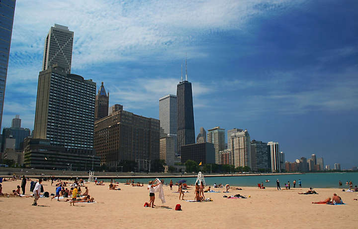 Chicago Illinois - Beach and Cityscape