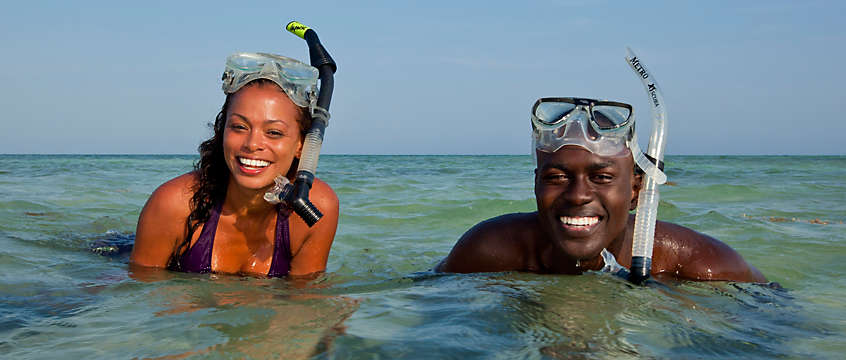 Marathon - couple snorkeling in the Gulf of Mexico
