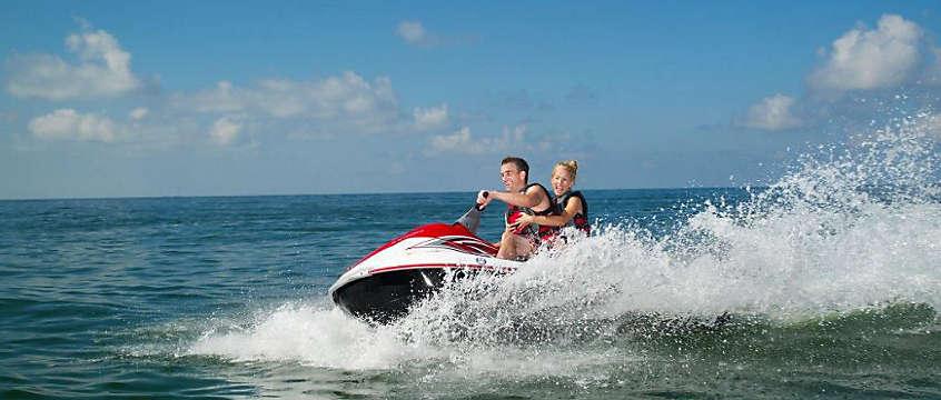 St. Pete Beach -  couple jet skiing