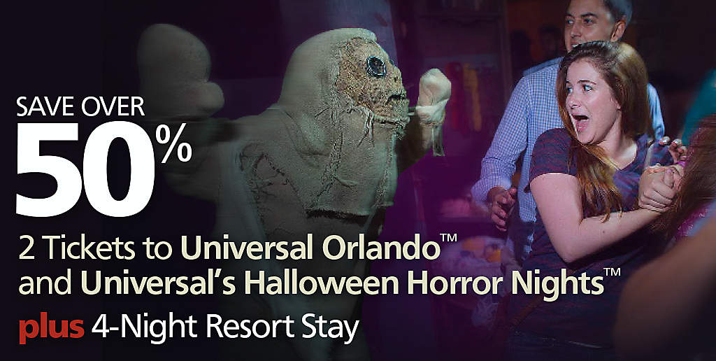 Universal's Halloween Horror Nights Vacation for Two   Bluegreen ...