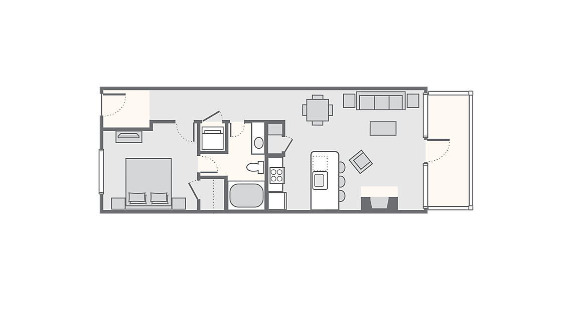 1 Bedroom Villa  680 SQ FT