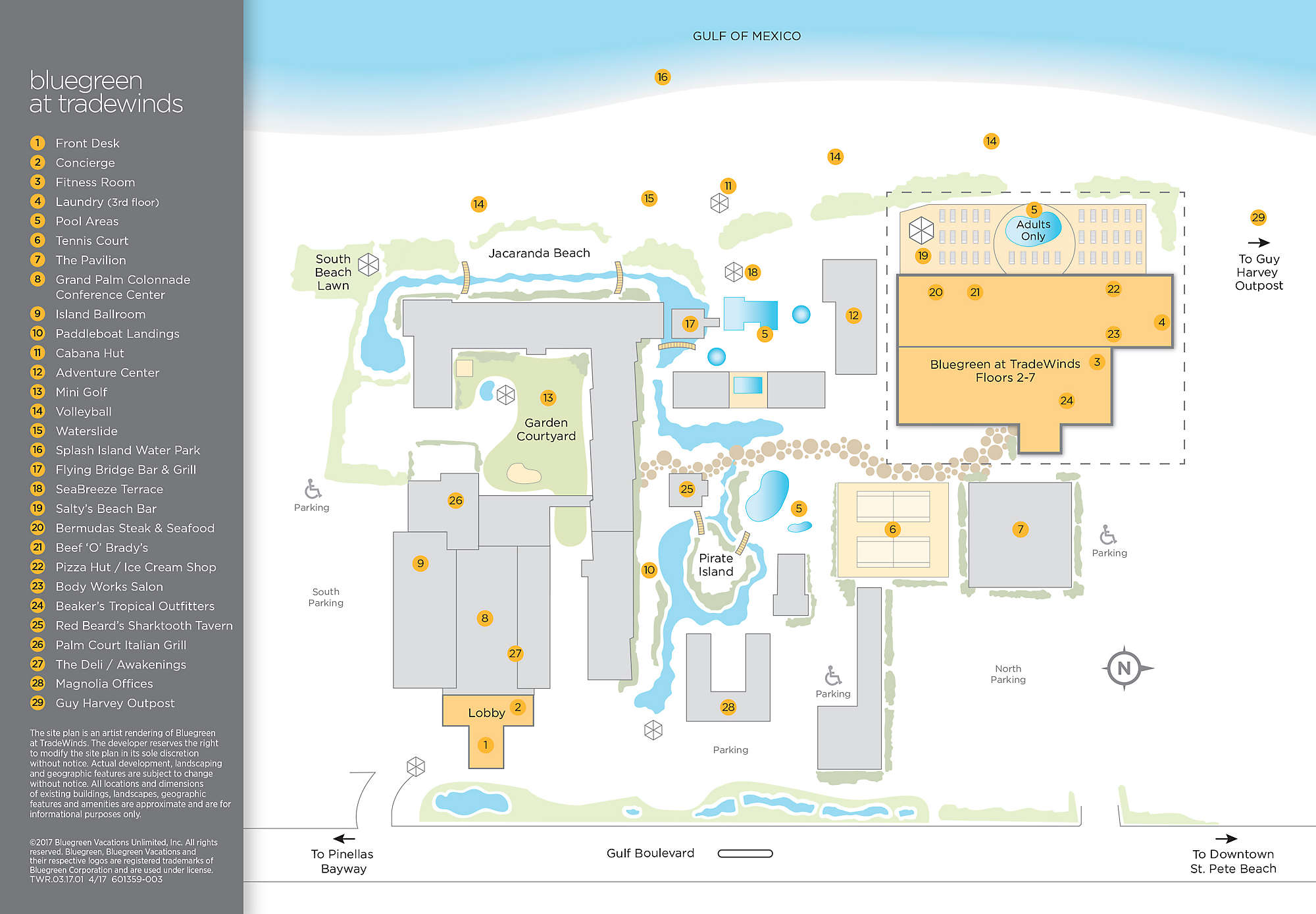 Bluegreen at TradeWinds Site Map