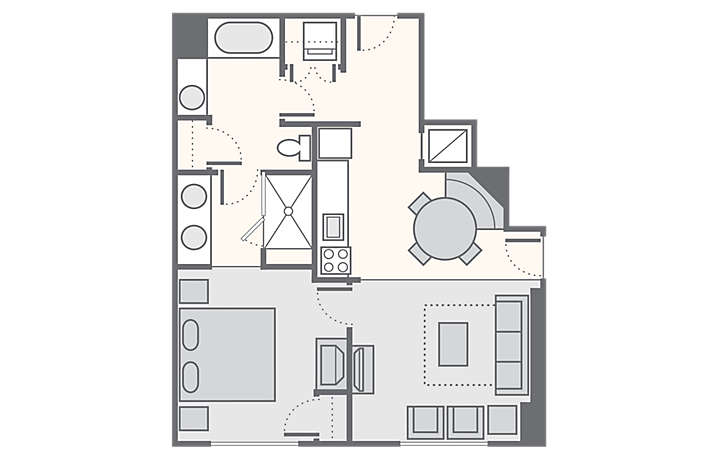 Bluegreen Club 36™ 1 Bedroom Deluxe, 704 sq ft.