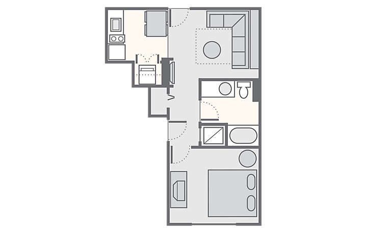 Bluegreen Club 36™ 1 Bedroom Standard, 486 sq ft.