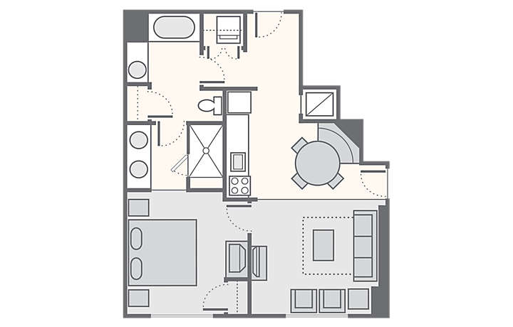 Bluegreen Club 36™ 1 Bedroom Deluxe, 710 sq ft.