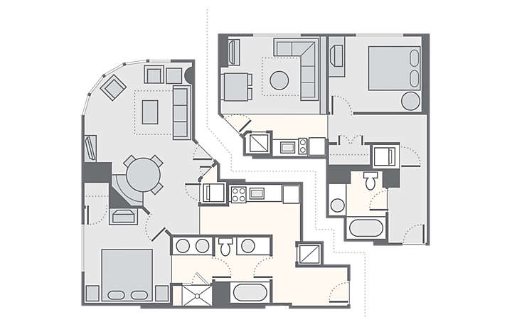 Bluegreen Club 36™ Combined 2 Bedroom, 1,288 sq ft.