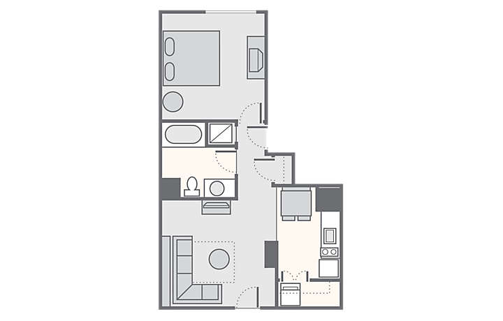 Bluegreen Club 36™ 1 Bedroom Standard, 597 sq ft.