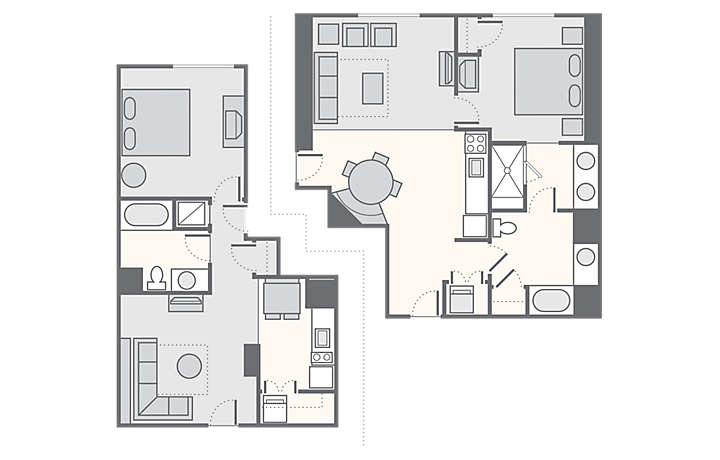 Bluegreen Club 36™ Combined 2 Bedroom, 1,404 sq ft.