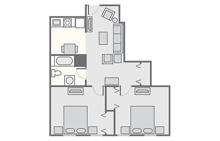 Bluegreen Club La Pension™ 2 Bedroom, 564 sq ft.
