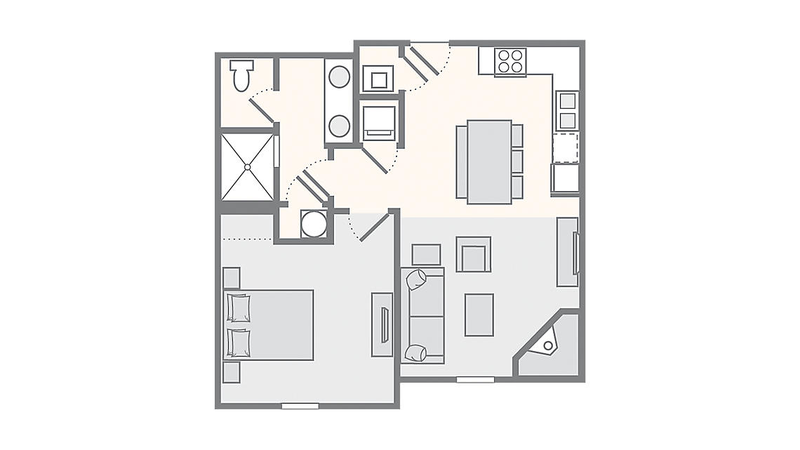 1 Bedroom Premium 640 SQ FT