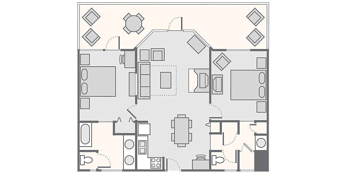 2 Bedroom Cabin 1,275 SQ FT