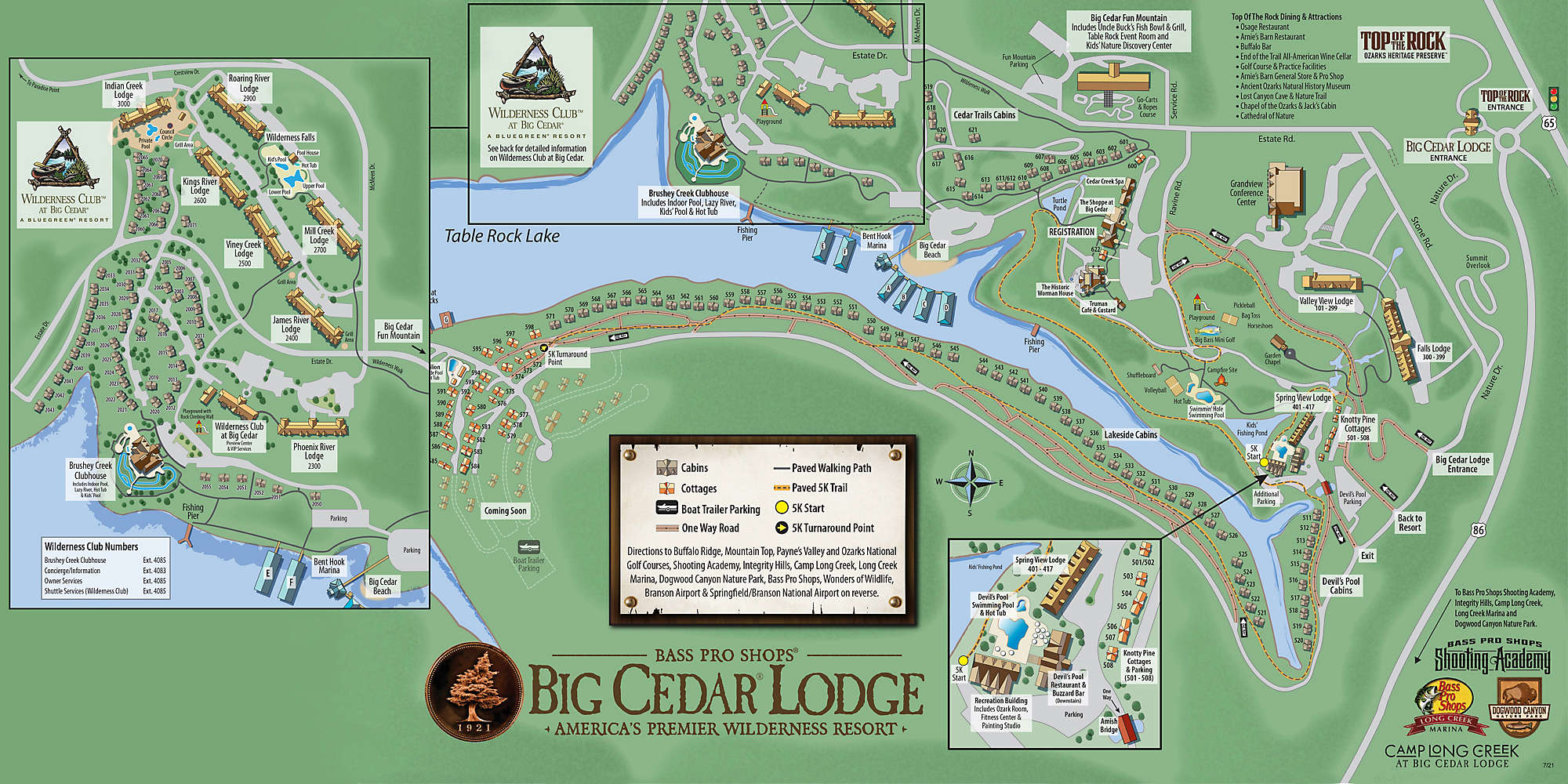 Wilderness Club™ at Big Cedar® Site Map