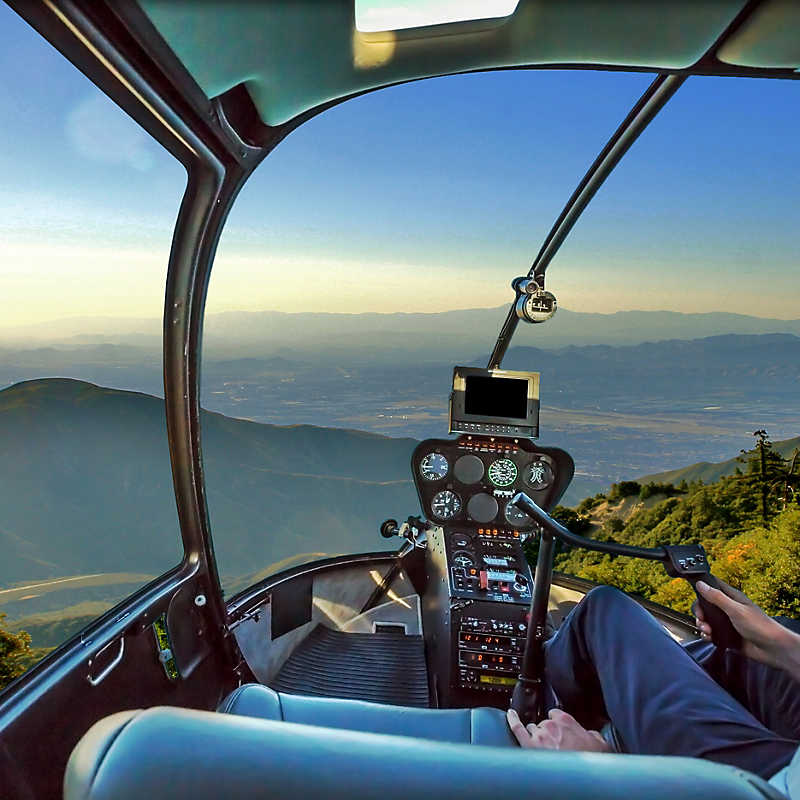 view in the sky for Helicopter Big Bear Tours