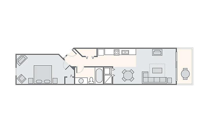 Carolina Grande™ 1 Bedroom, 590 sq ft.