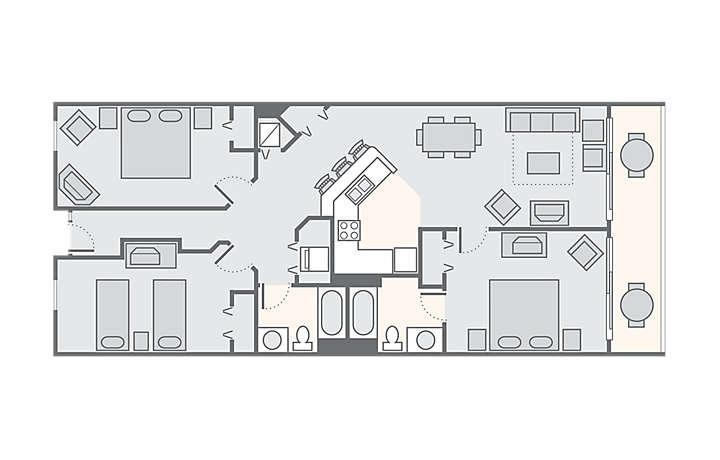 Carolina Grande™ 3 Bedroom, 1,260 sq ft.