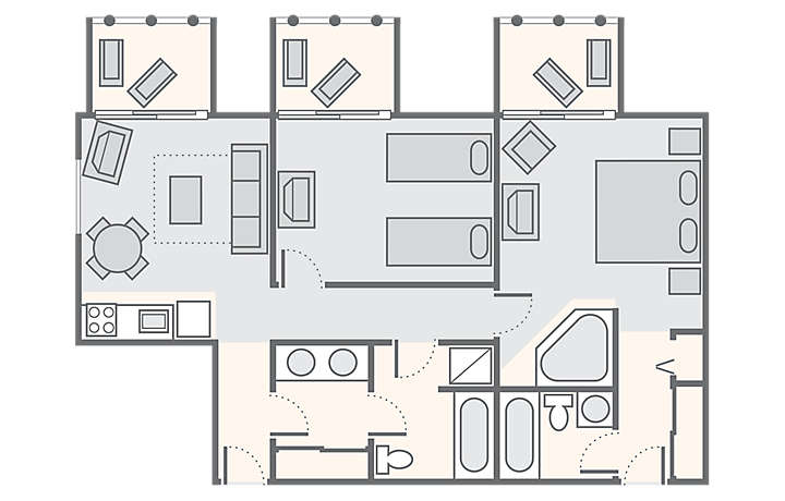 Disney Beach Club 2 Bedroom Suite Floor Plan - Room Image and ...