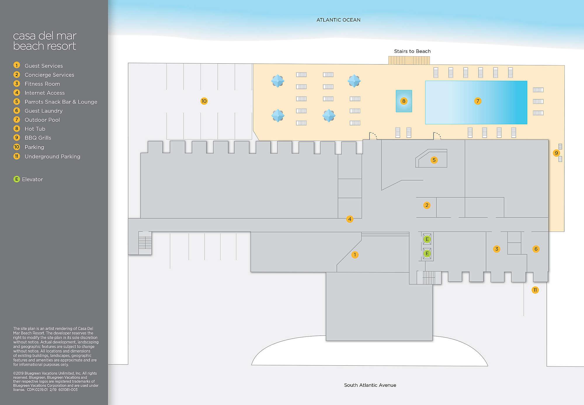 Casa Del Mar Beach Resort Site Map