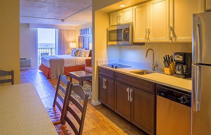 Casa Del Mar Beach Resort Studio Living Area