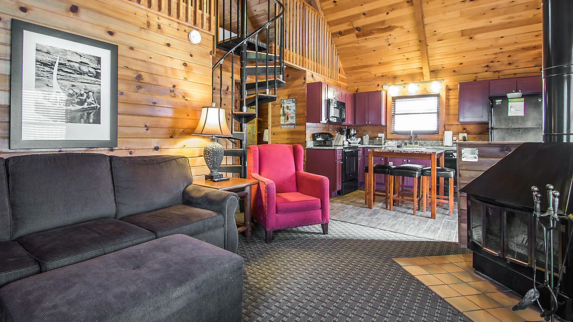 2-Bedroom Loft Cabin Living Area