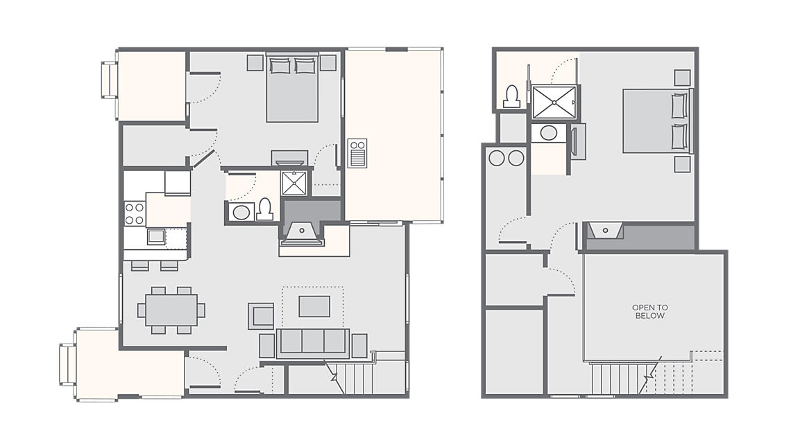 2 Bedroom Villa 1,200 SQ FT