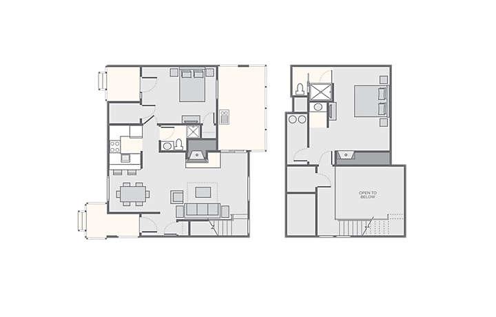 Christmas Mountain Village™ 2 Bedroom Villa, 1,200 sq ft.