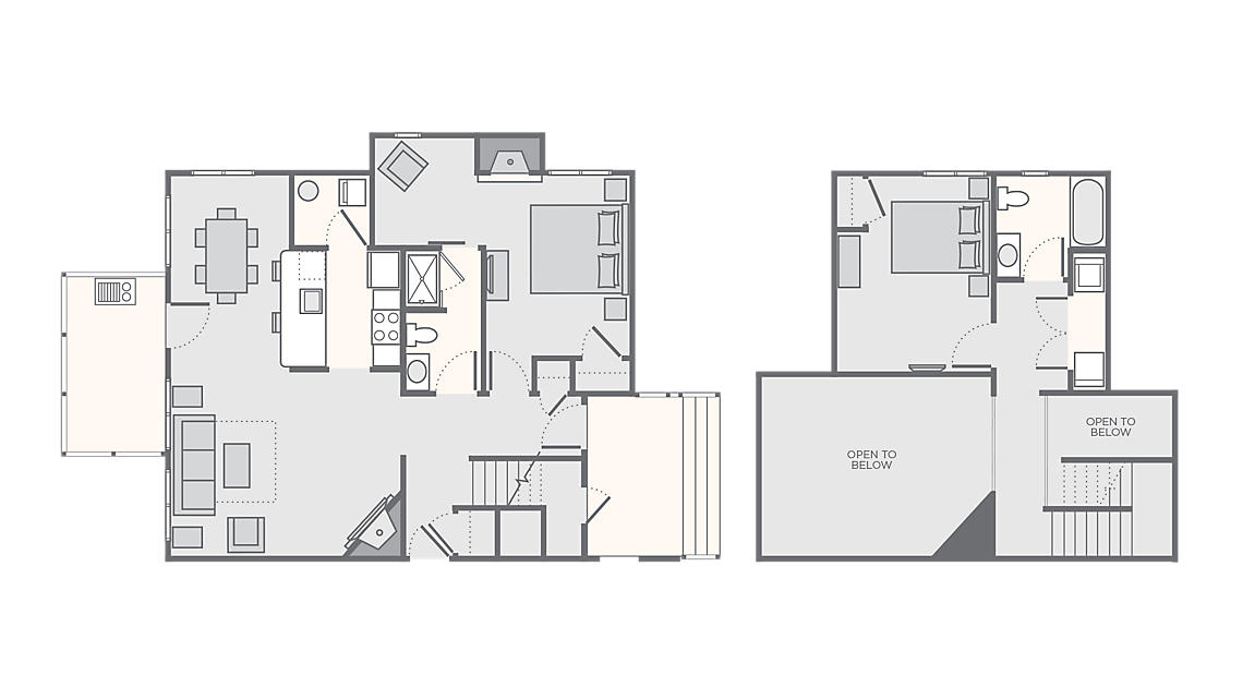 2 Bedroom Deluxe Timber 1,150 SQ FT