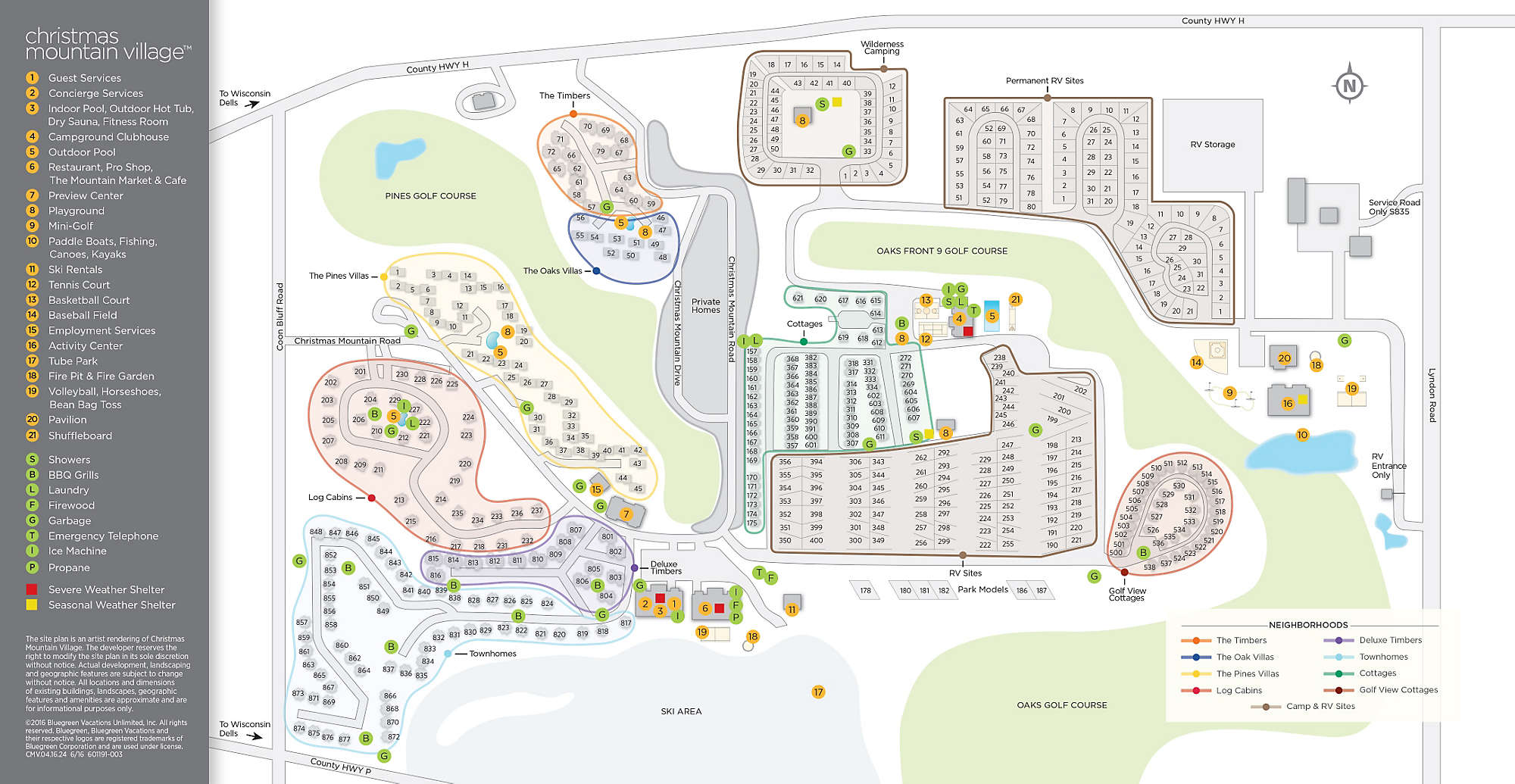 Christmas Mountain Village Site Map