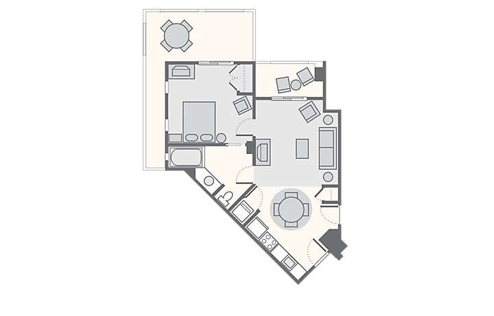 Cibola Vista Resort and Spa 1 Bedroom Junior Penthouse, 626 sq ft.