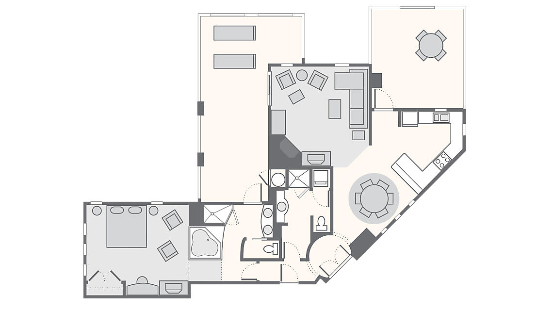 1 Bedroom Master Penthouse 1,191 SQ FT