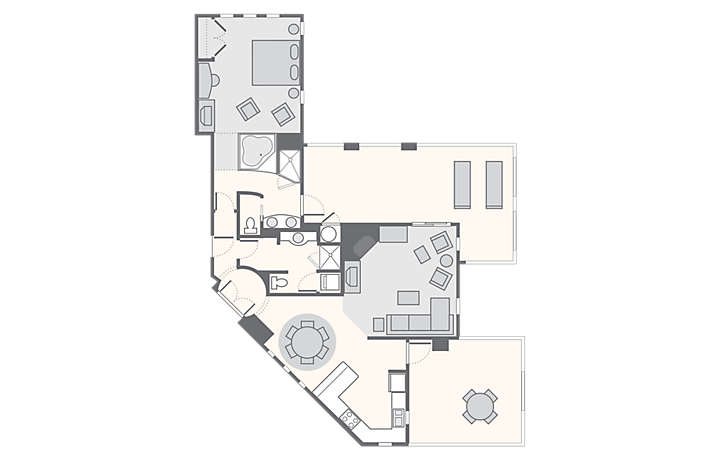 Cibola Vista Resort and Spa 1 Bedroom Master Penthouse, 1,191 sq ft.
