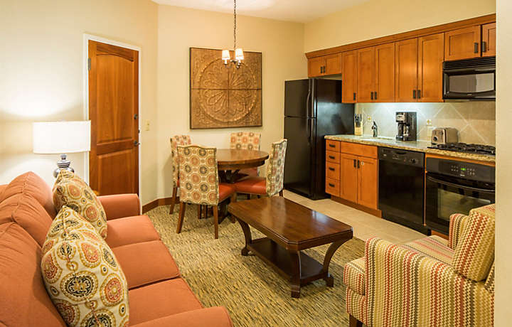 Cibola Vista Resort and Spa One Bedroom Junior Villa Living Area