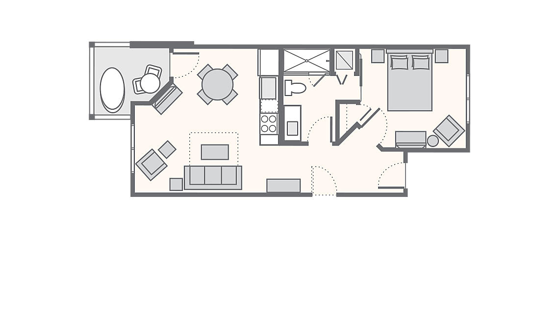 1 Bedroom Penthouse Junior Standard 622 SQ FT