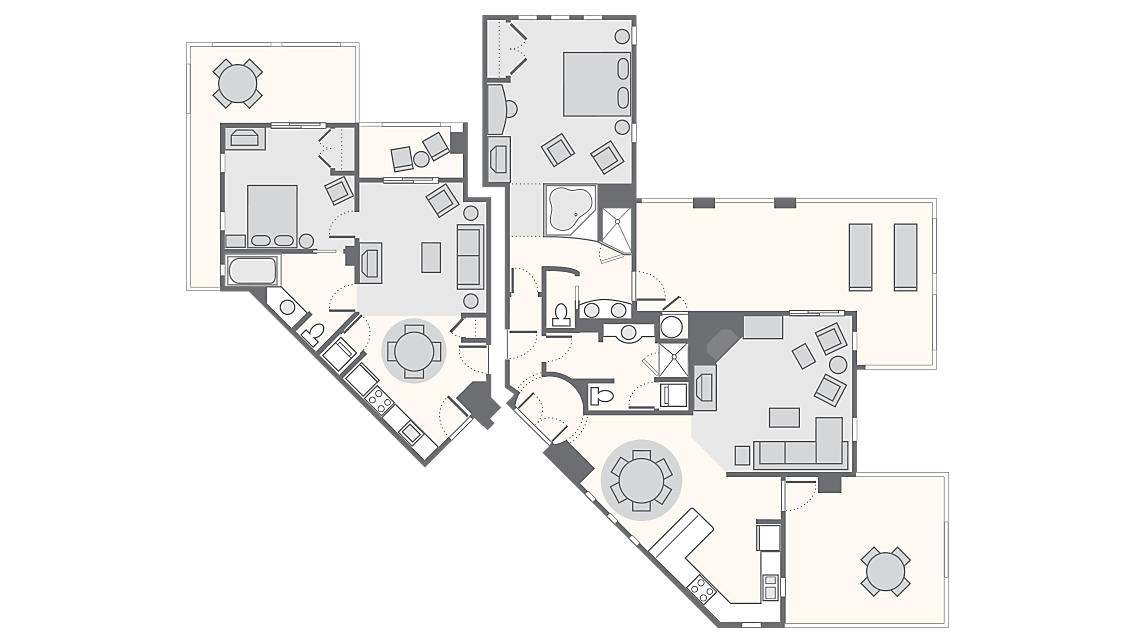 Combined 2 Bedroom Penthouse 1,817 SQ FT (1 Bed Junior Penthouse 626 SQ FT, 1 Bed Master Penthouse 1,191 SQ FT)