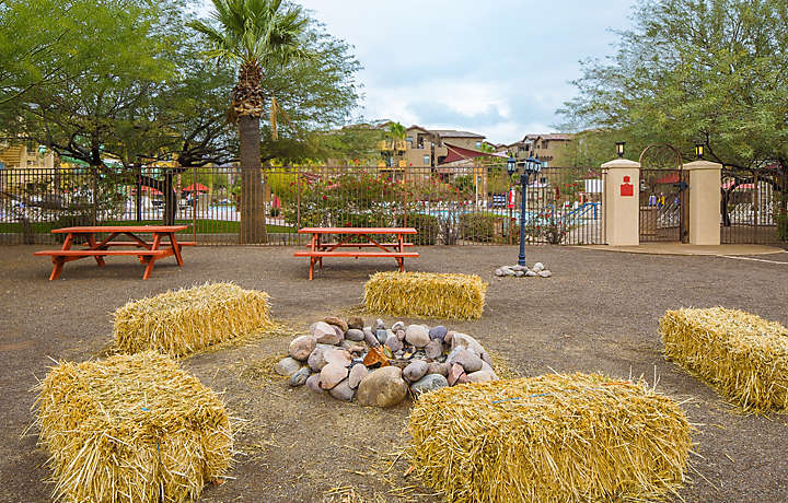 Cibola Vista Resort and Spa Fire Pit Recreation Area