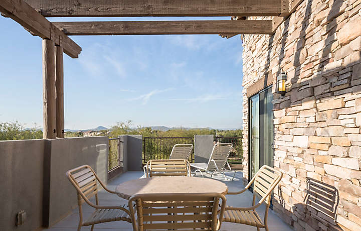 Cibola Vista Resort and Spa Two Bedroom Penthouse Balcony View
