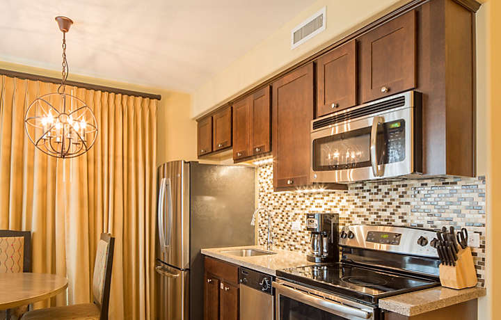 Cibola Vista Resort and Spa One Bedroom Junior Villa Kitchen Area