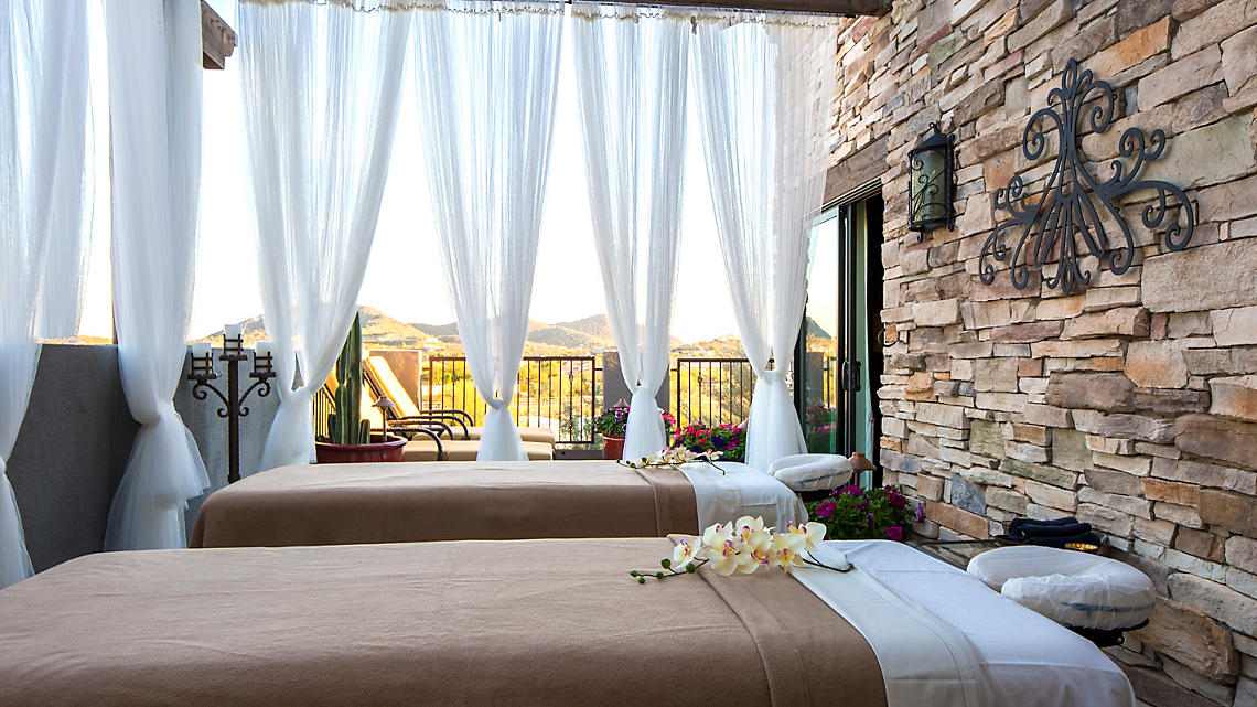 Enjoy a Relaxing Outdoor Massage at the Spa
