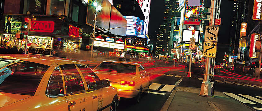New York Times Square, yellow cabs