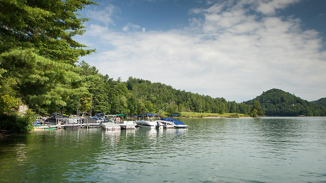 Boat Docks on Lake Glenville