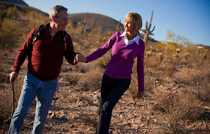 Couple Enjoys Arizona Desert