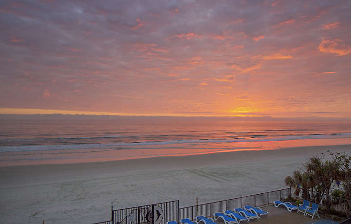 Dolphin Beach Club Sunset in Daytona Beach