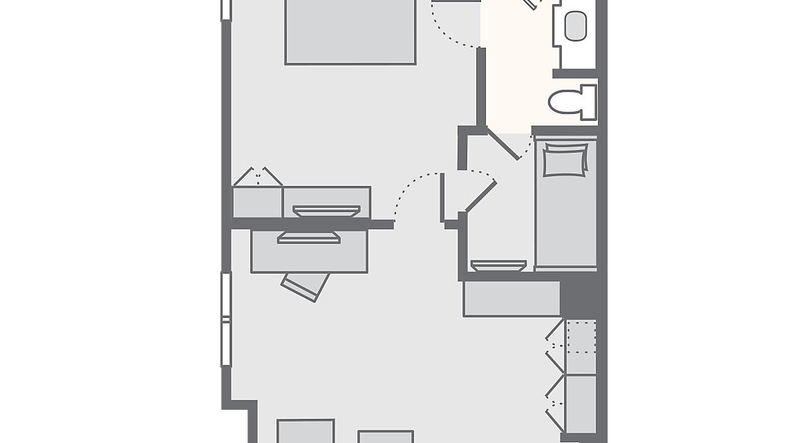 1 Bedroom Deluxe 650 SQ FT