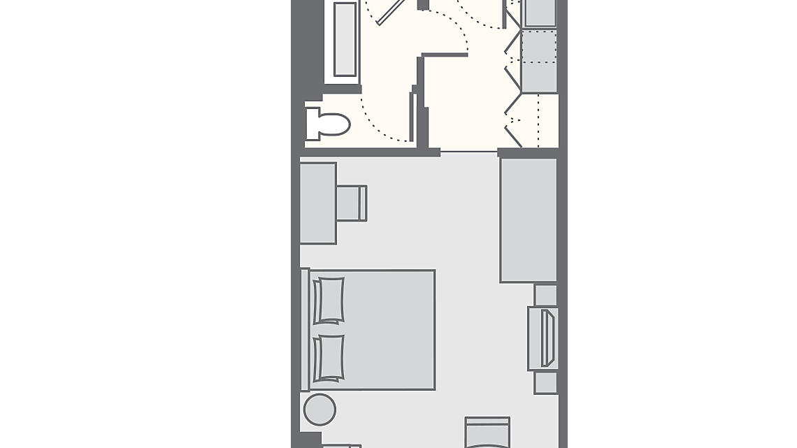 1 Bedroom Standard 455 SQ FT