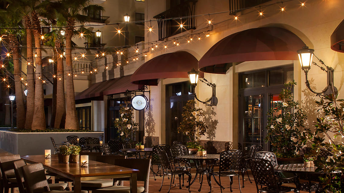 Sustenio Restaurant offers outdoor dining